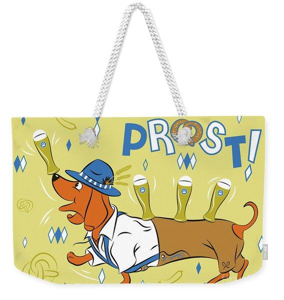 Beer Dachshund Dog Weekender Tote Bag