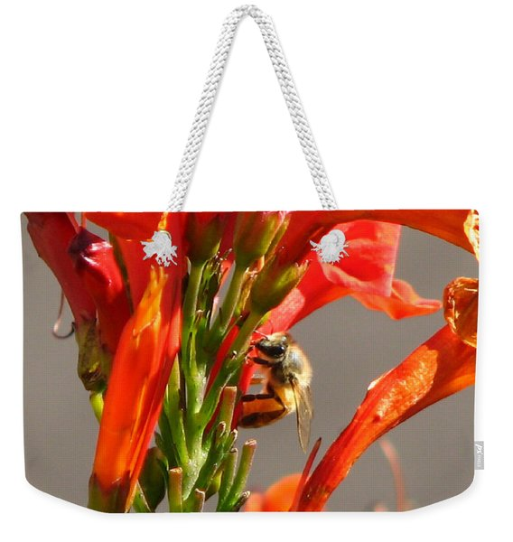 Day In A Life Of A Bee Weekender Tote Bag