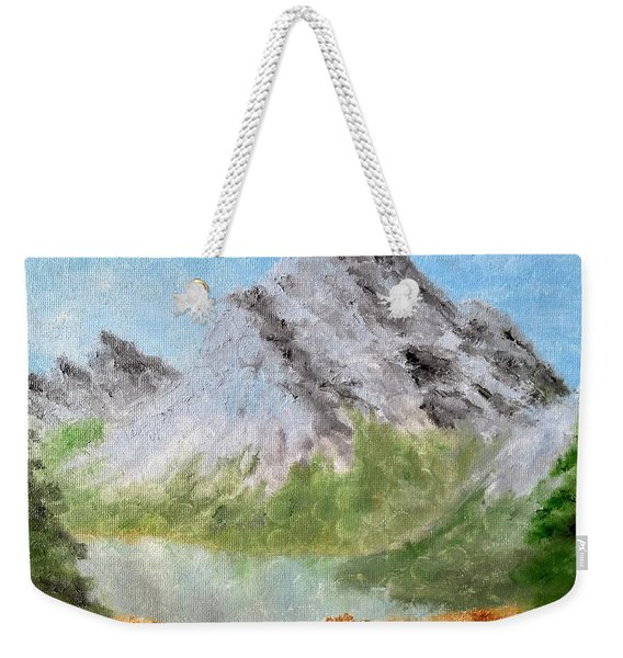 Weekender Tote Bag featuring the painting Bee's Eyed View by Kevin Daly