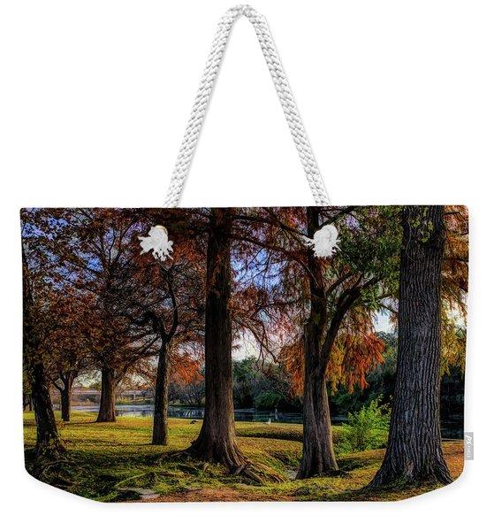 Beginning Of Fall In Texas Weekender Tote Bag