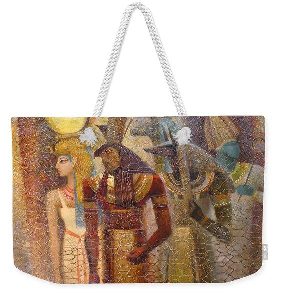 Beginnings. Gods Of Ancient Egypt Weekender Tote Bag
