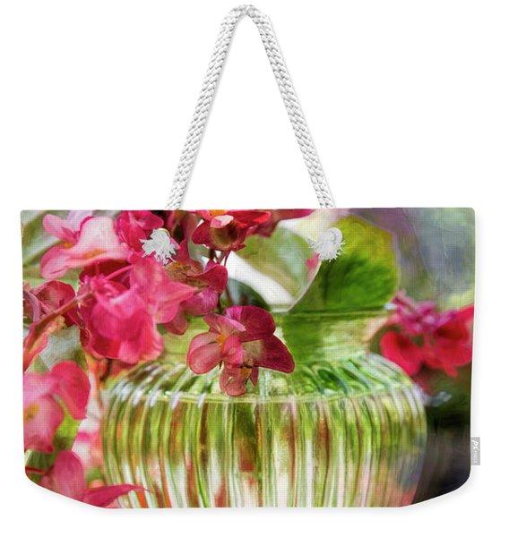 Begonia Art Weekender Tote Bag