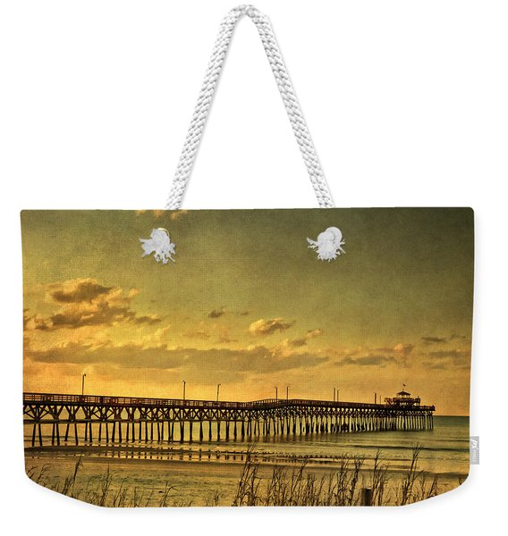 Behind Cherry Grove Pier  Weekender Tote Bag
