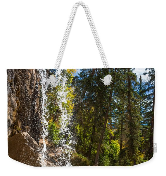 Behind Spouting Rock Waterfall - Hanging Lake - Glenwood Canyon Colorado Weekender Tote Bag