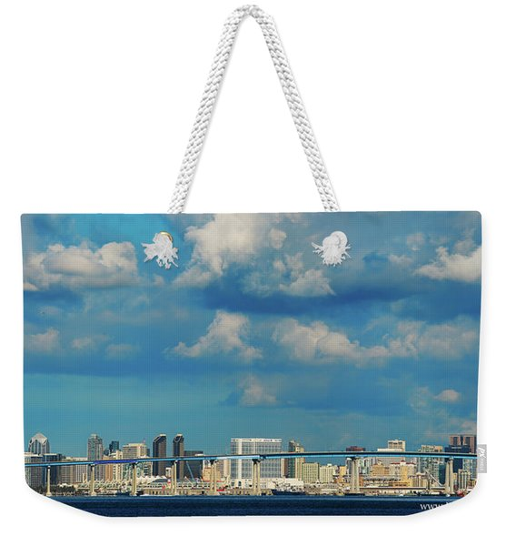 Behind The Bridge Weekender Tote Bag
