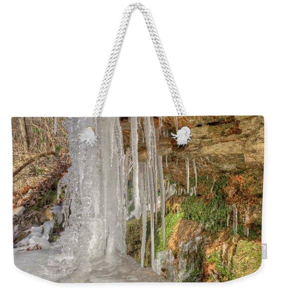 Behind The Ice Weekender Tote Bag