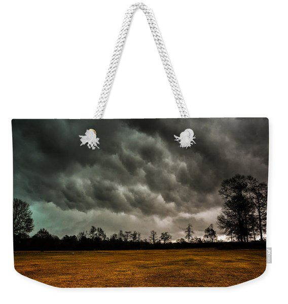 Behind The Tornado Weekender Tote Bag