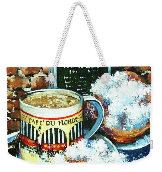 Beignets And Cafe Au Lait Weekender Tote Bag