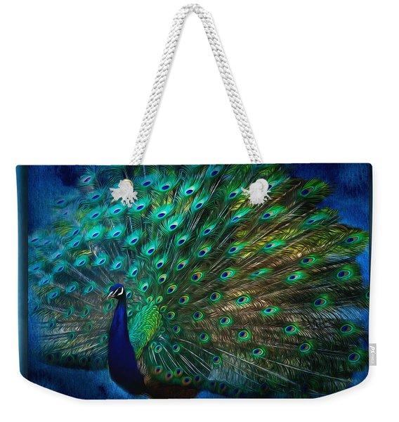 Being Yourself - Peacock Art Weekender Tote Bag