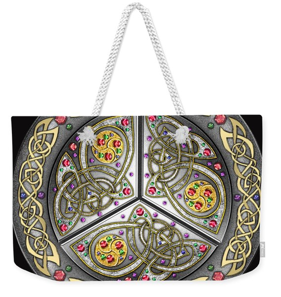 Bejeweled Celtic Shield Weekender Tote Bag