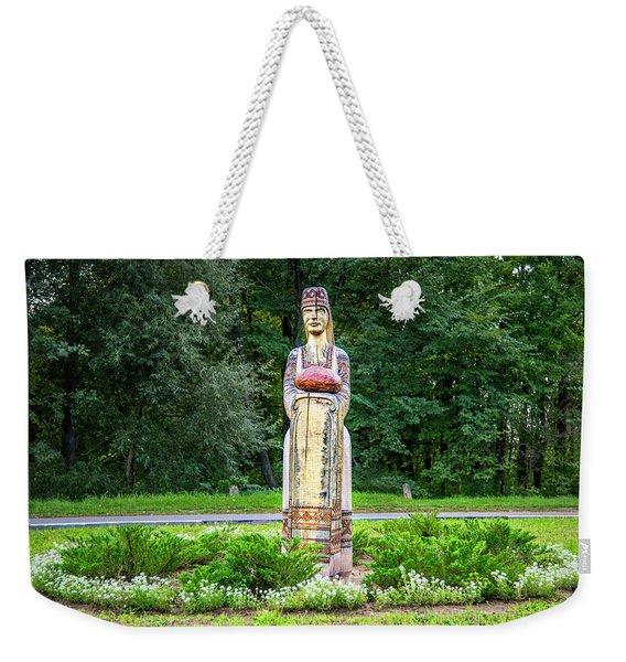 Belarus Roadside Carving Weekender Tote Bag