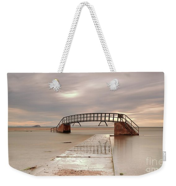 Belhaven Stairs And The Bass At Low Tide Weekender Tote Bag