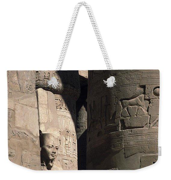 Belief In The Hereafter - Luxor Karnak Temple Weekender Tote Bag
