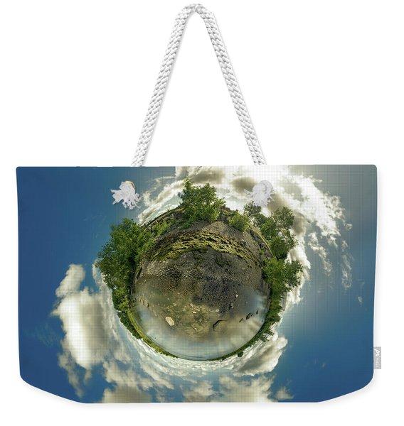 Bell Slip Sunrise - Tiny Planet Weekender Tote Bag