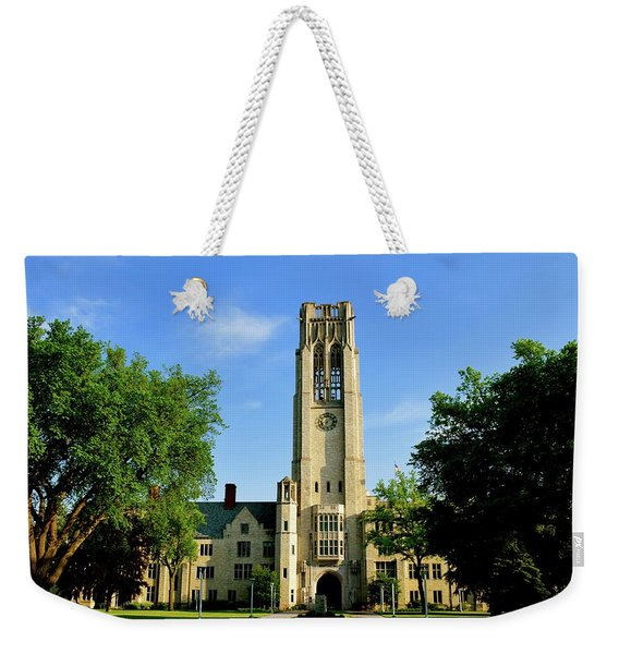 Bell Tower At The University Of Toledo Weekender Tote Bag