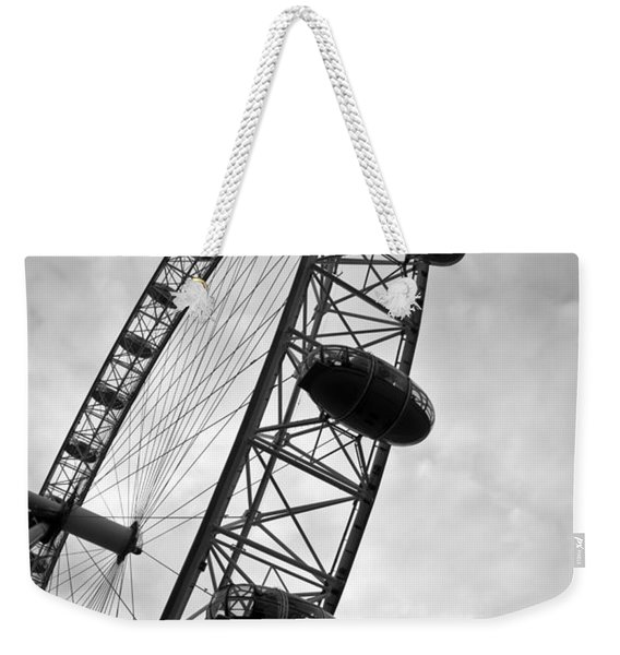 Below London's Eye Bw Weekender Tote Bag