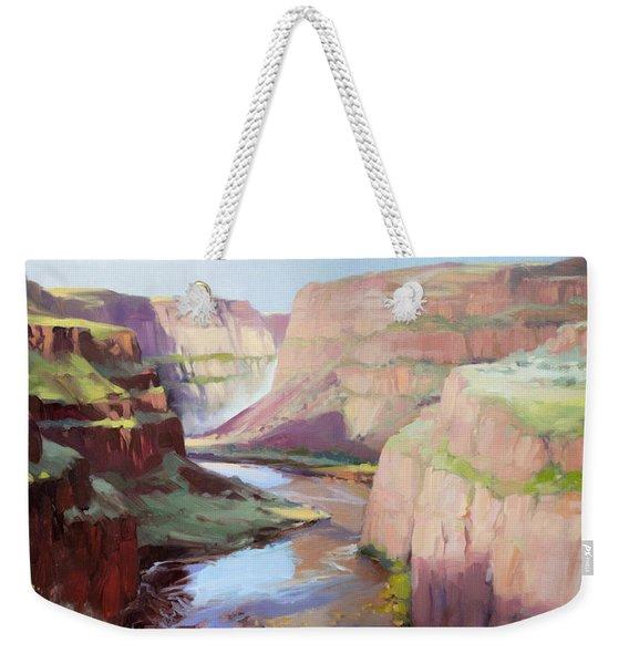Below Palouse Falls Weekender Tote Bag