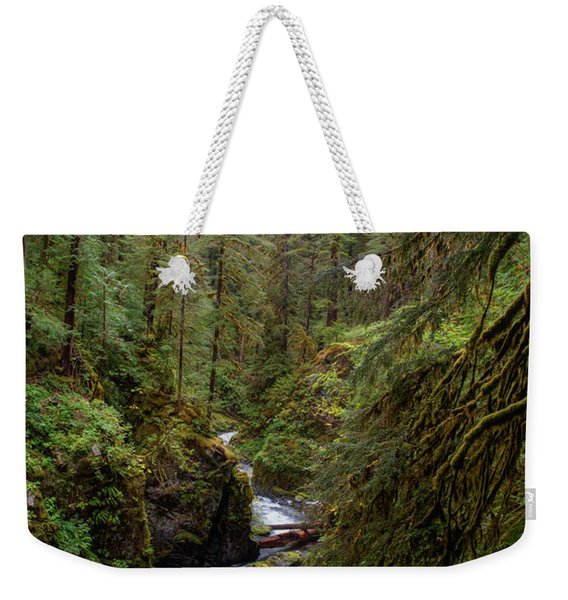 Below The Falls Weekender Tote Bag