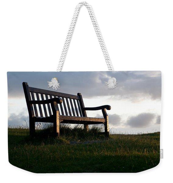 Bench At Sunset Weekender Tote Bag