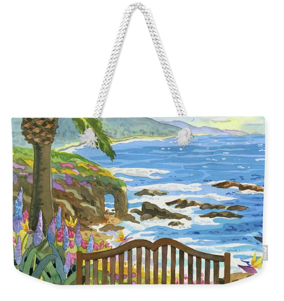 Bench At The Montage Weekender Tote Bag