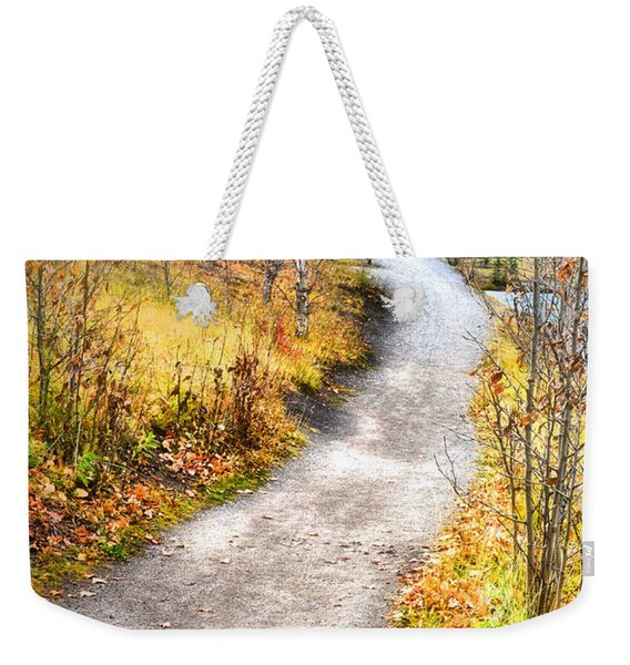 Bench On A Hill Weekender Tote Bag