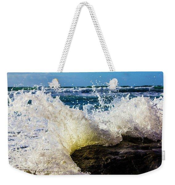 Wave Bending Backwards Weekender Tote Bag
