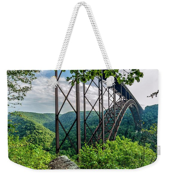 Beneath New River Gorge Bridge Weekender Tote Bag