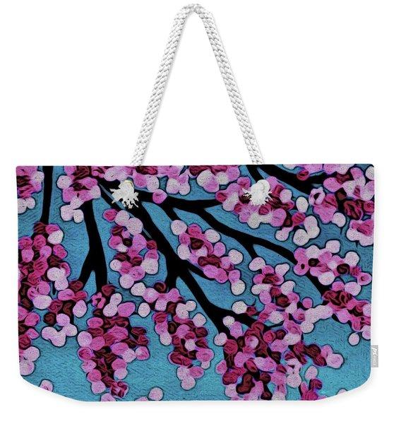 Beneath The Cherry Weekender Tote Bag