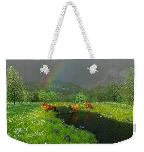 Beneath The Waning Mist Weekender Tote Bag