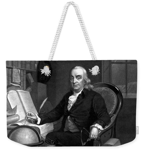 Benjamin Franklin -- The Scientist Weekender Tote Bag