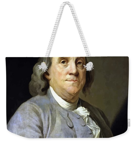 Benjamin Franklin Painting Weekender Tote Bag