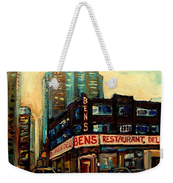 Bens Restaurant Deli Weekender Tote Bag