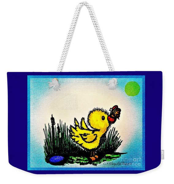 Benson Duck  With Butterfly   Weekender Tote Bag