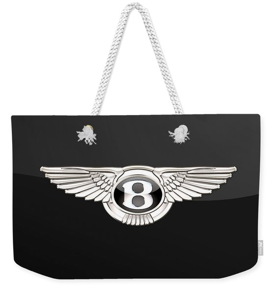 Bentley - 3 D Badge On Black Weekender Tote Bag