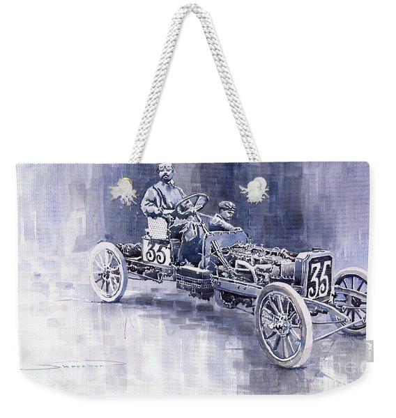 Benz 60hp Targa Florio Rennwagen 1907 Weekender Tote Bag