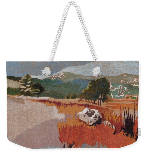 Bergen Peak First Snow Weekender Tote Bag