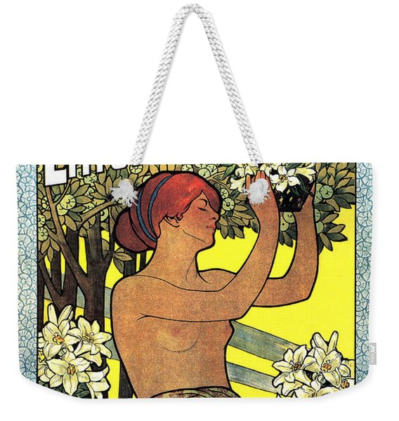 Bergmann's Lilienmilch Seife - Vintage German Advertising Poster - Cosmetics And Soap Weekender Tote Bag