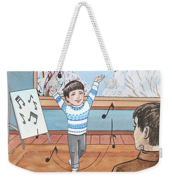 Bernard Goes To Music School Happy Song Weekender Tote Bag