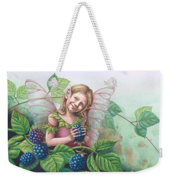 Blackberry Fairie Weekender Tote Bag