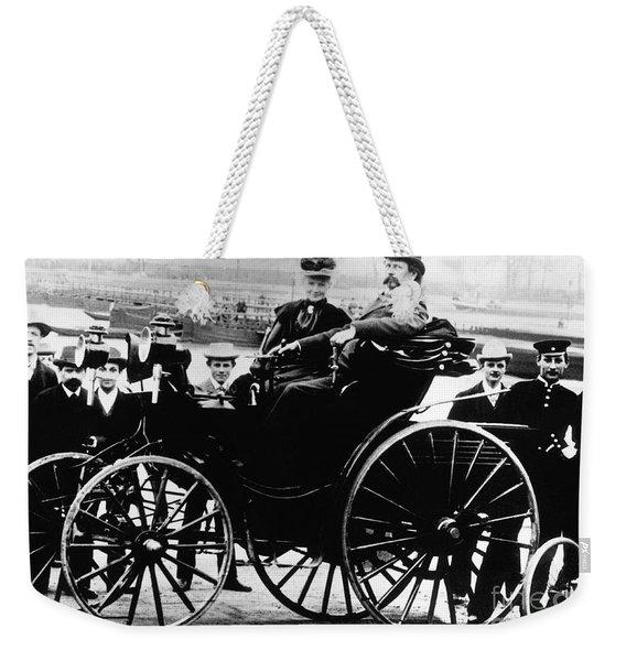 Bertha And Karl Benz, German Auto Weekender Tote Bag