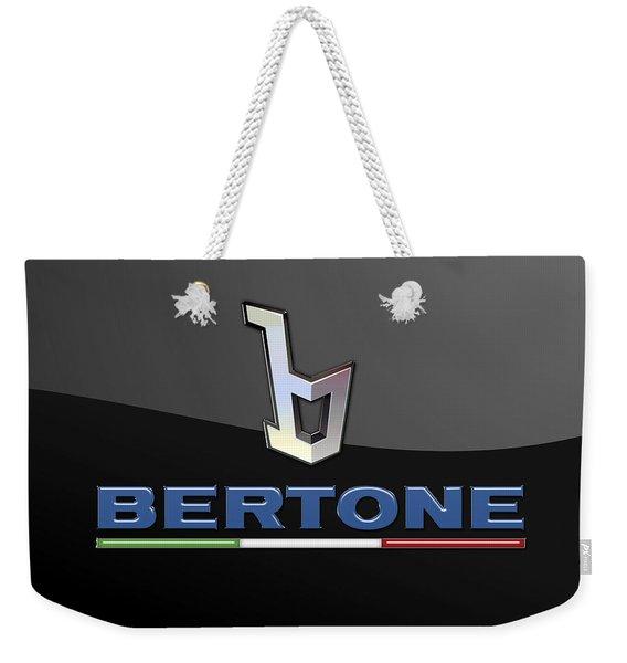 Bertone - 3 D Badge On Black Weekender Tote Bag