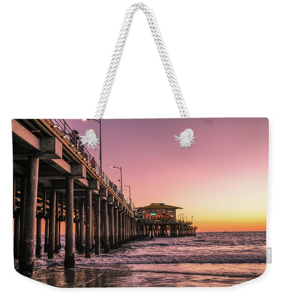 Weekender Tote Bag featuring the photograph Beside The Pier By Mike-hope by Michael Hope