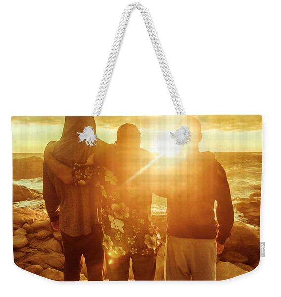 Best Friends Greeting The Sun Weekender Tote Bag