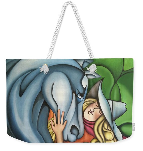 Pony Girl Weekender Tote Bag
