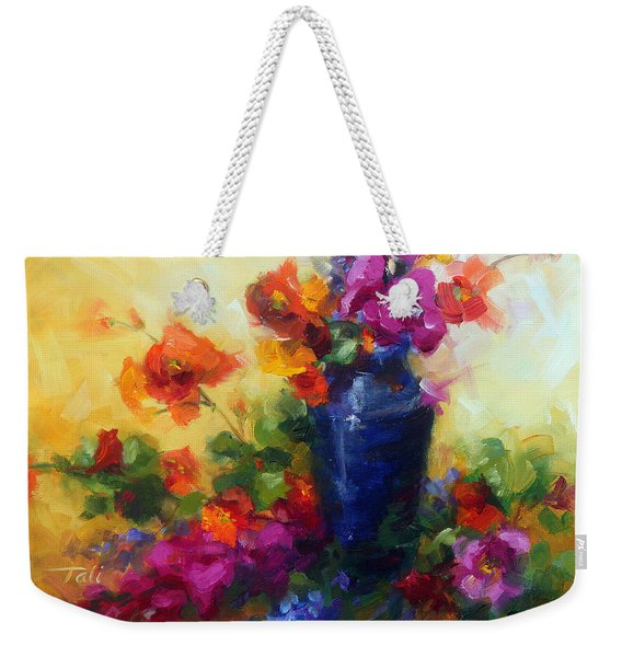Weekender Tote Bag featuring the painting Best Friends by Talya Johnson