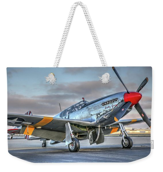 Betty Jane P51d Mustang At Livermore Weekender Tote Bag