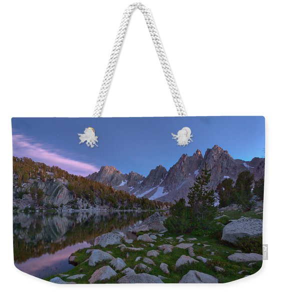 Between A Rock And A Soft Place Weekender Tote Bag