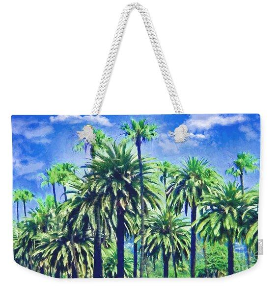 Beverly Hills Palms Weekender Tote Bag