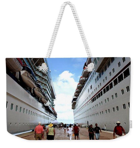 Beween Two Ships Weekender Tote Bag