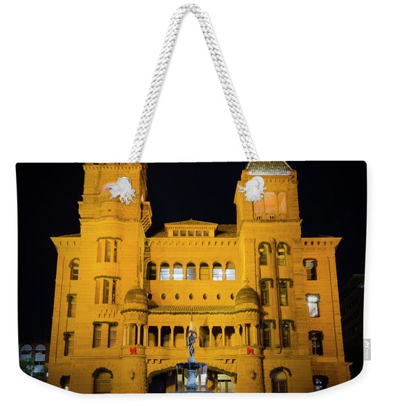 Bexar County Courthouse Illumination Weekender Tote Bag